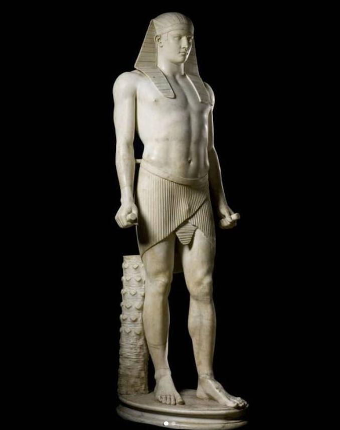 roman marble sculpture of Osiris-Antinous