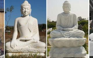 white marble gandhara buddha statue