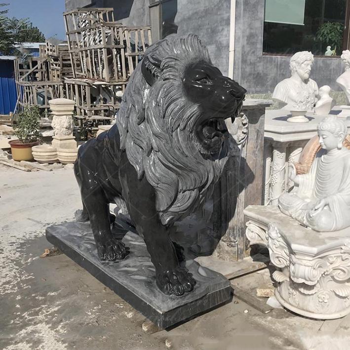 Black Lion Statues