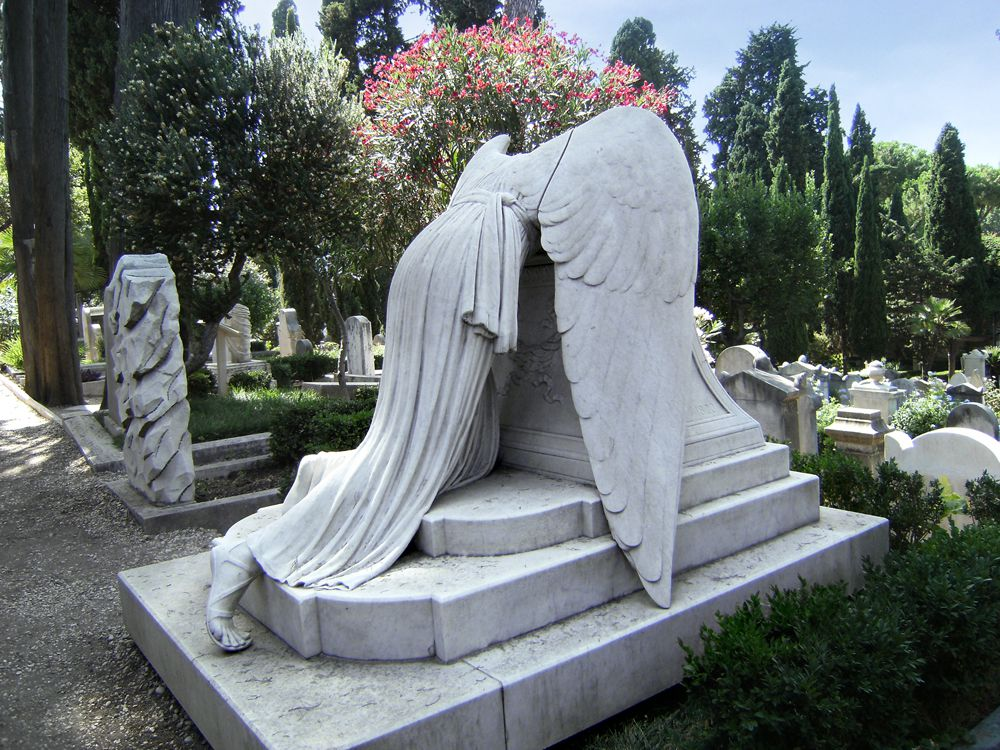 Angel of Grief Headstone