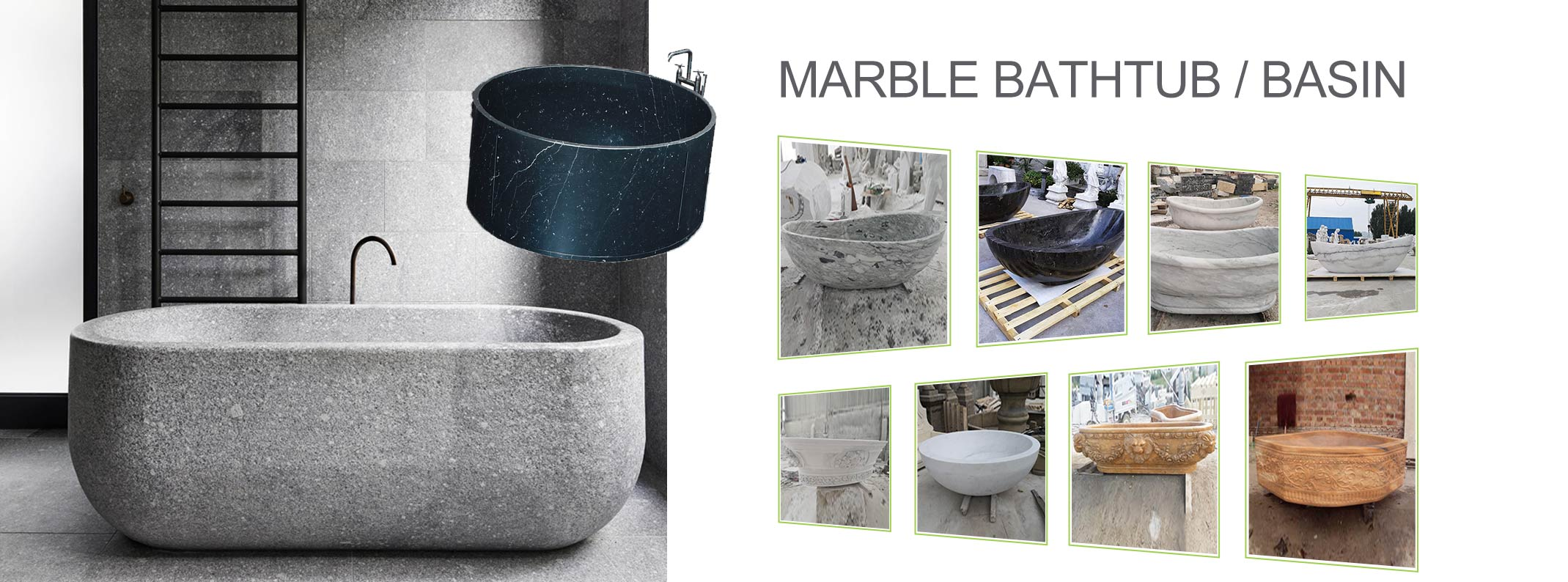 Marble Bathtub Basin