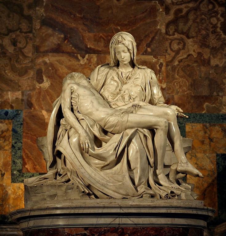 Pieta Marble statue by Michelangelo
