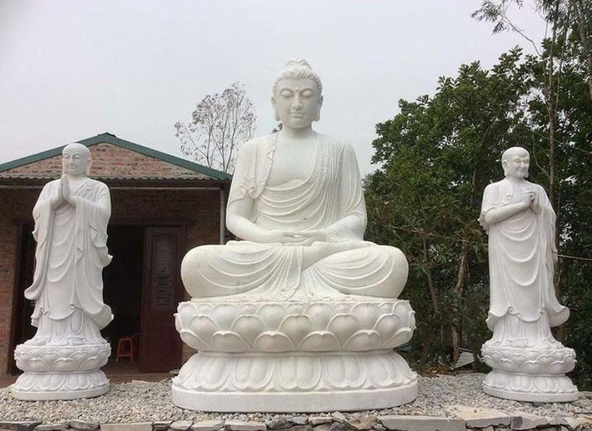 buddha statue marble big size