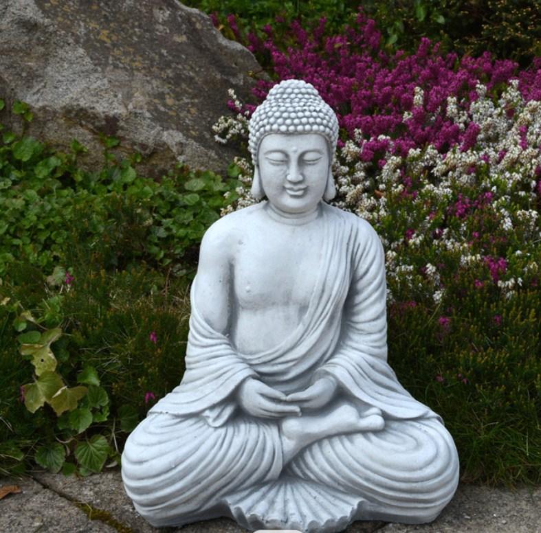 garden stone buddha statue