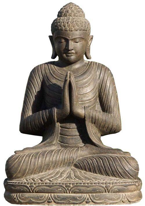 large stone buddha statue
