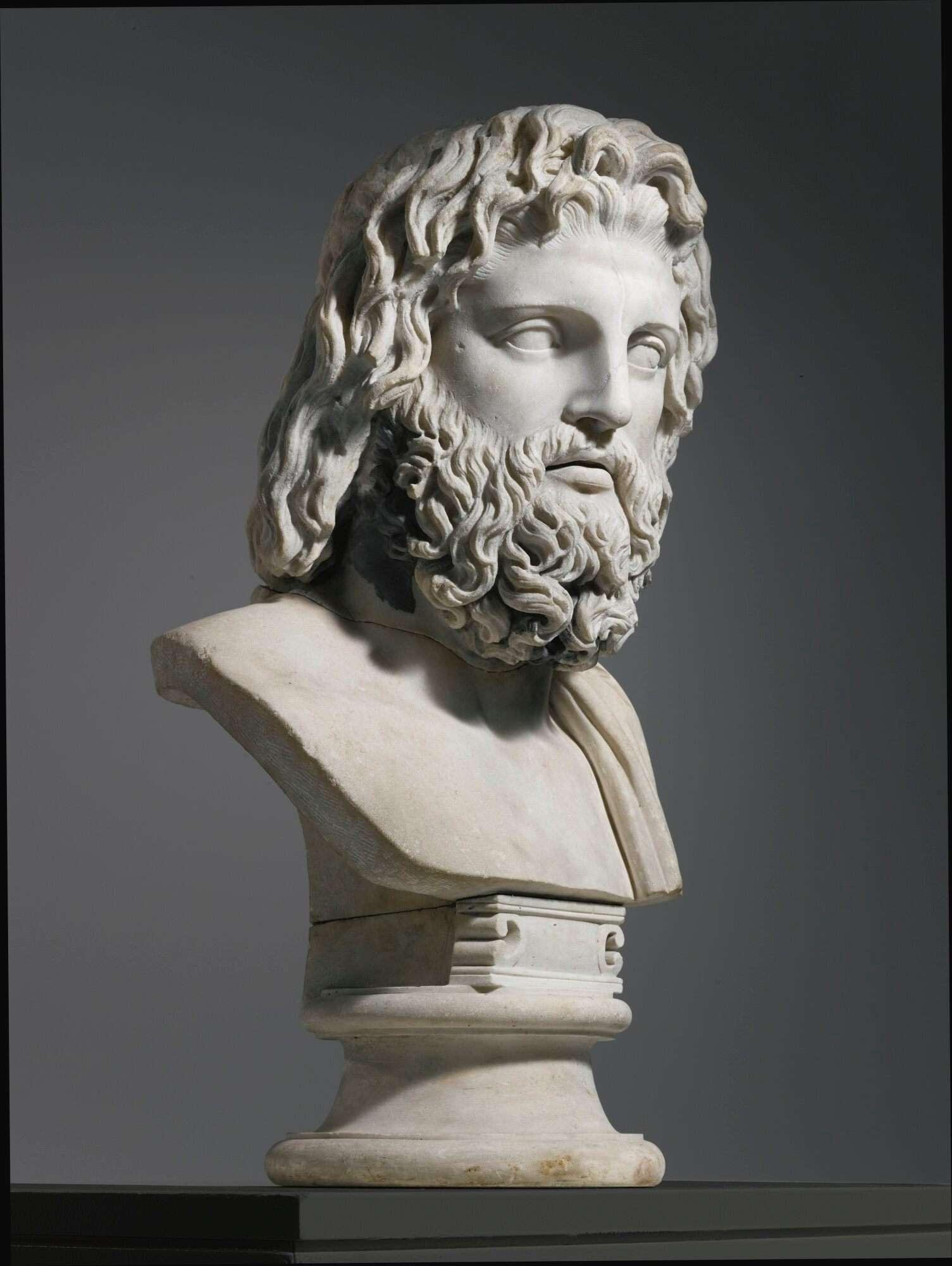 marble bust of zeus