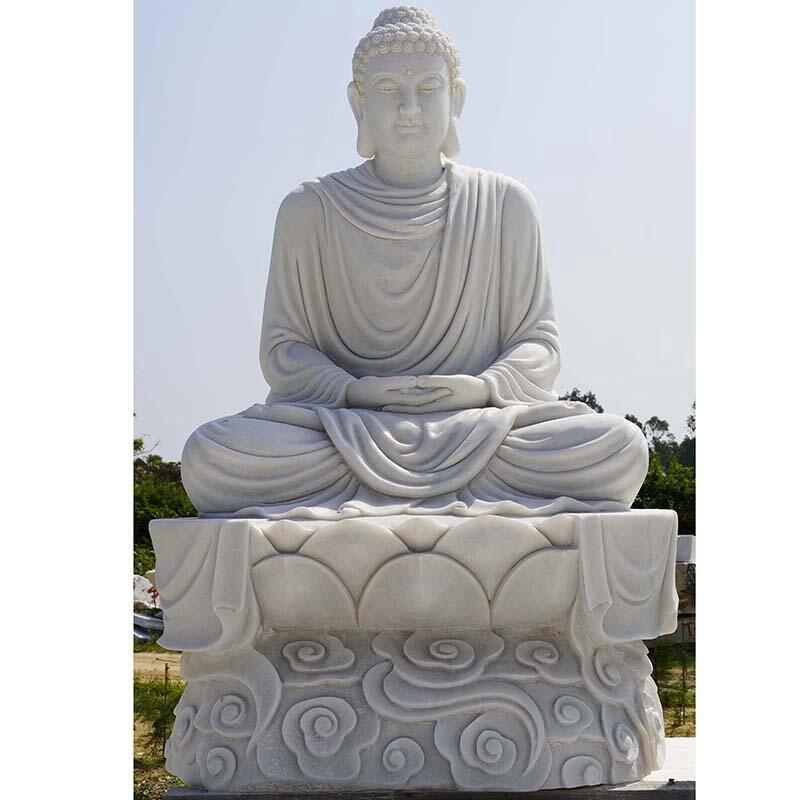outdoor stone buddha statue