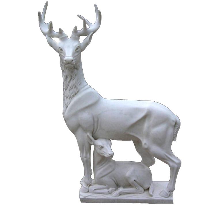 stone deer statues
