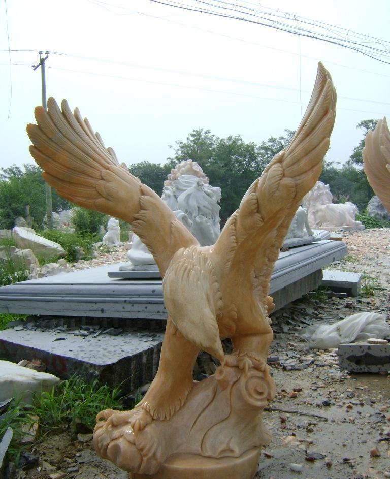 stone eagle statue