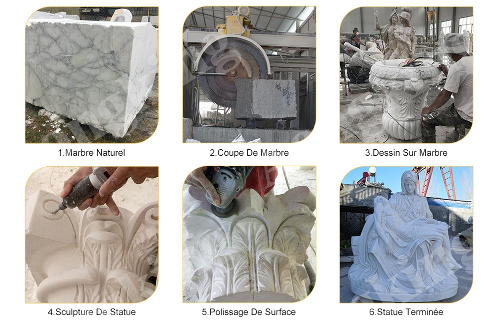 Total process of marble sculpture