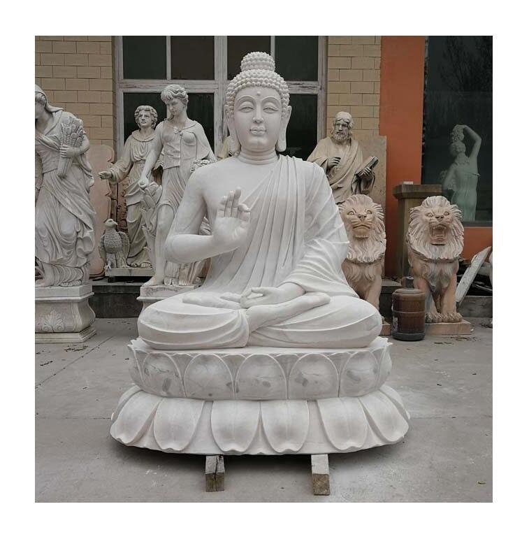 white stone buddha statue (1)