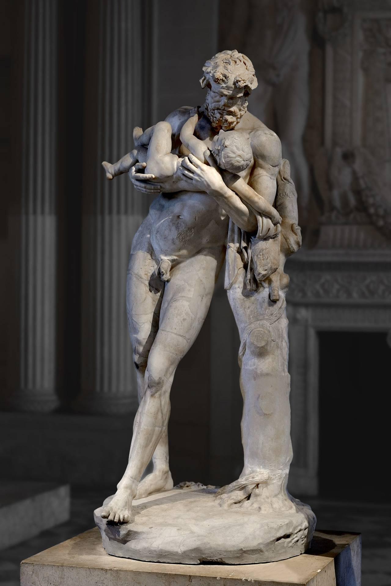 Silenus cradling the infant Dionysus