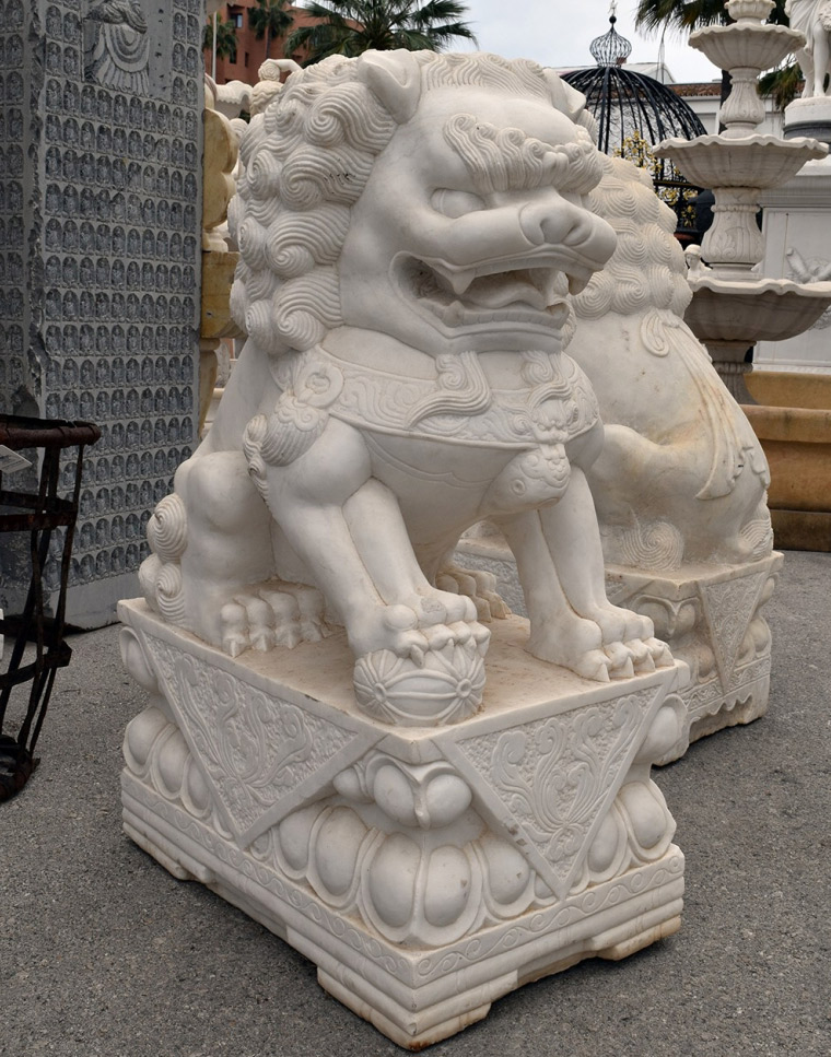 pair of chinese guardian foo lion dogs