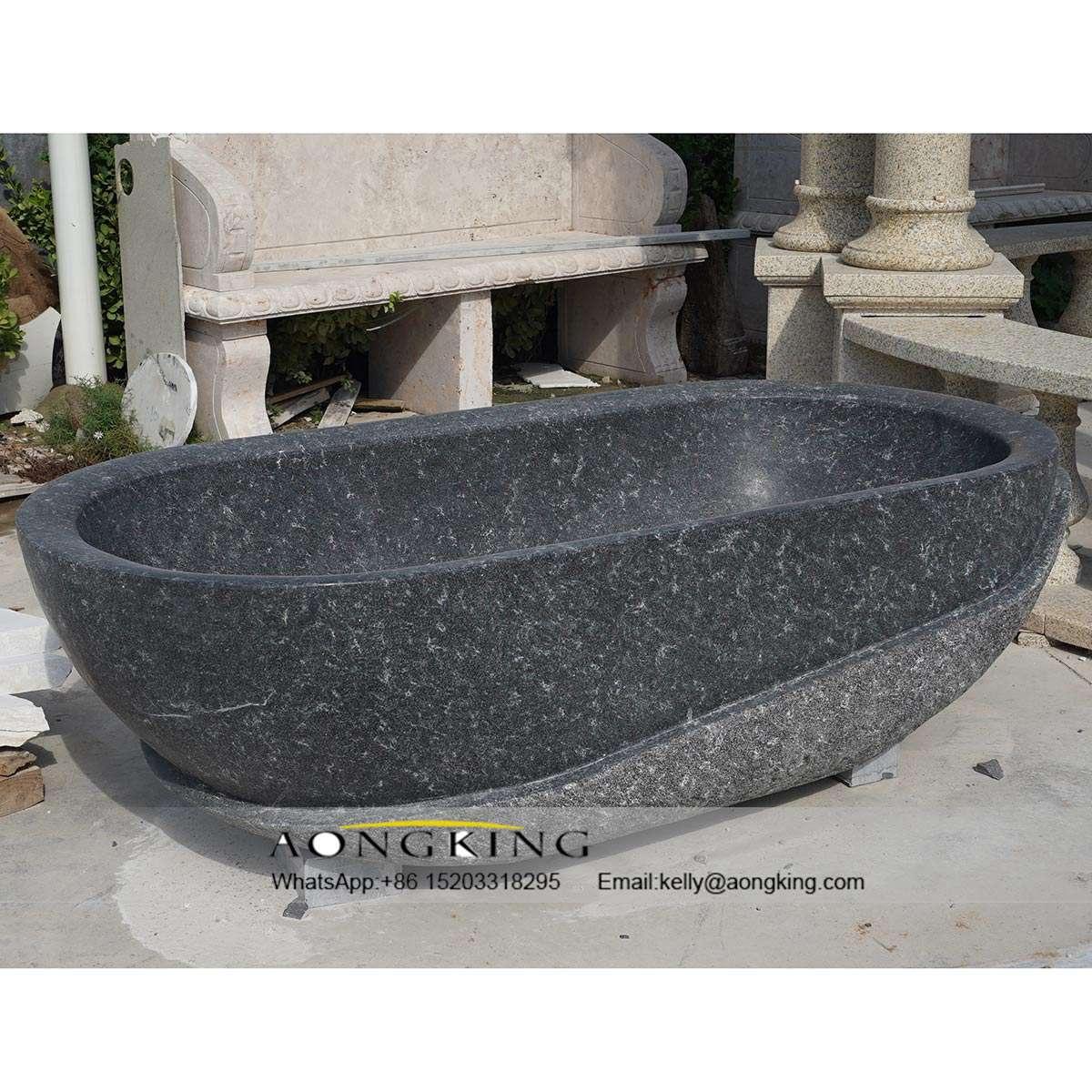 black marble bathtub