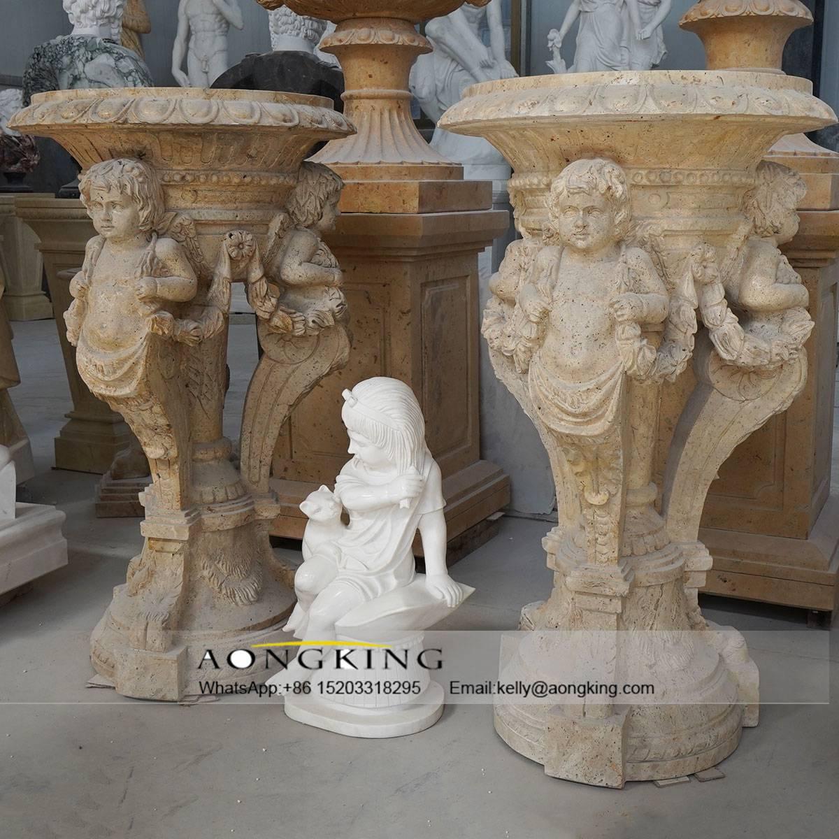 cherub carving decor