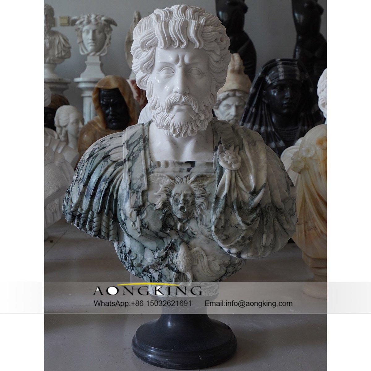 custom marble bust