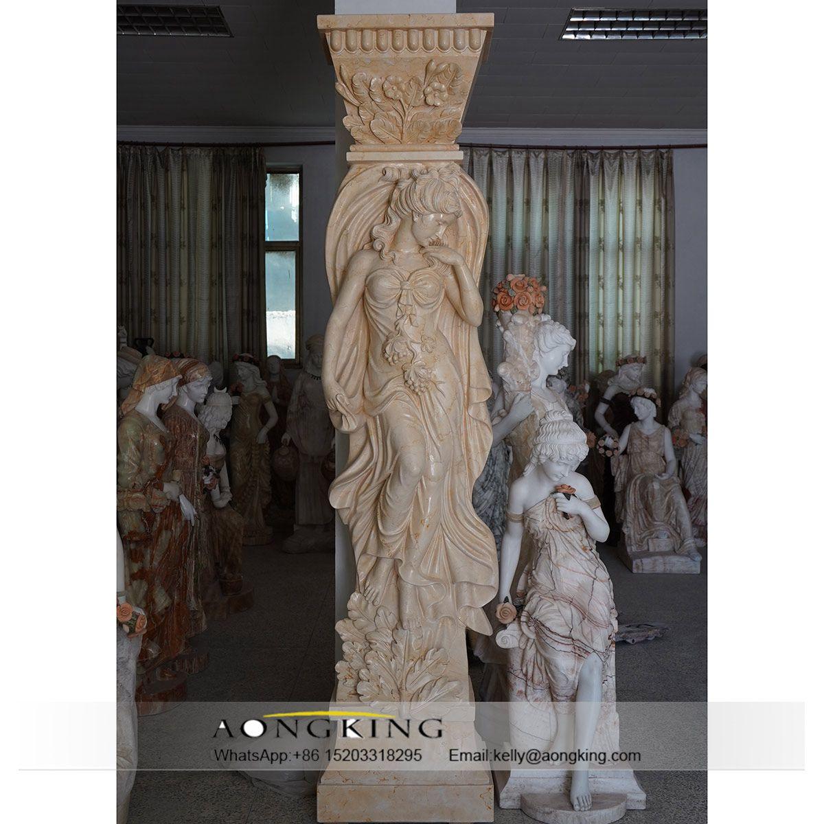 garden pillar art