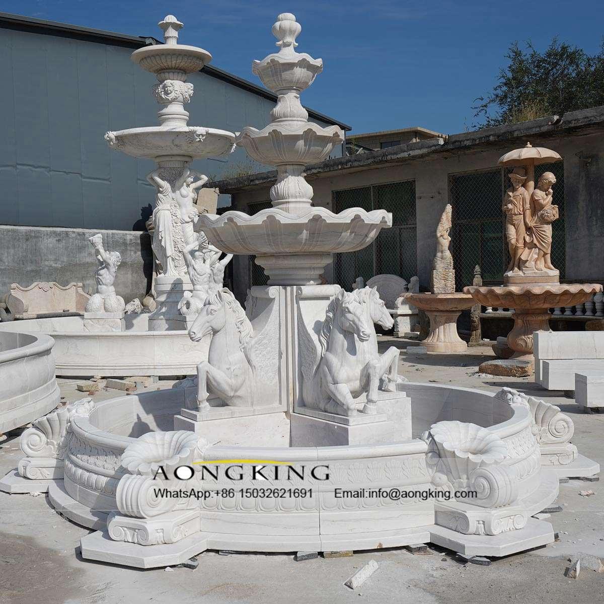 horse fountains