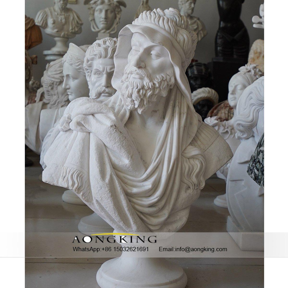 marble face sculpture