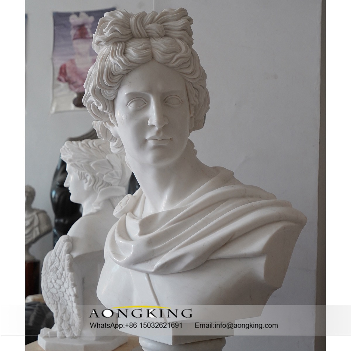 marble statue face