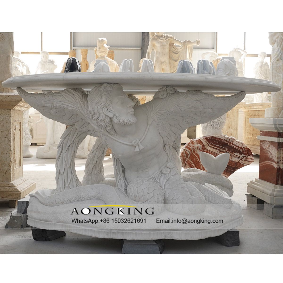 marble statue for home decor