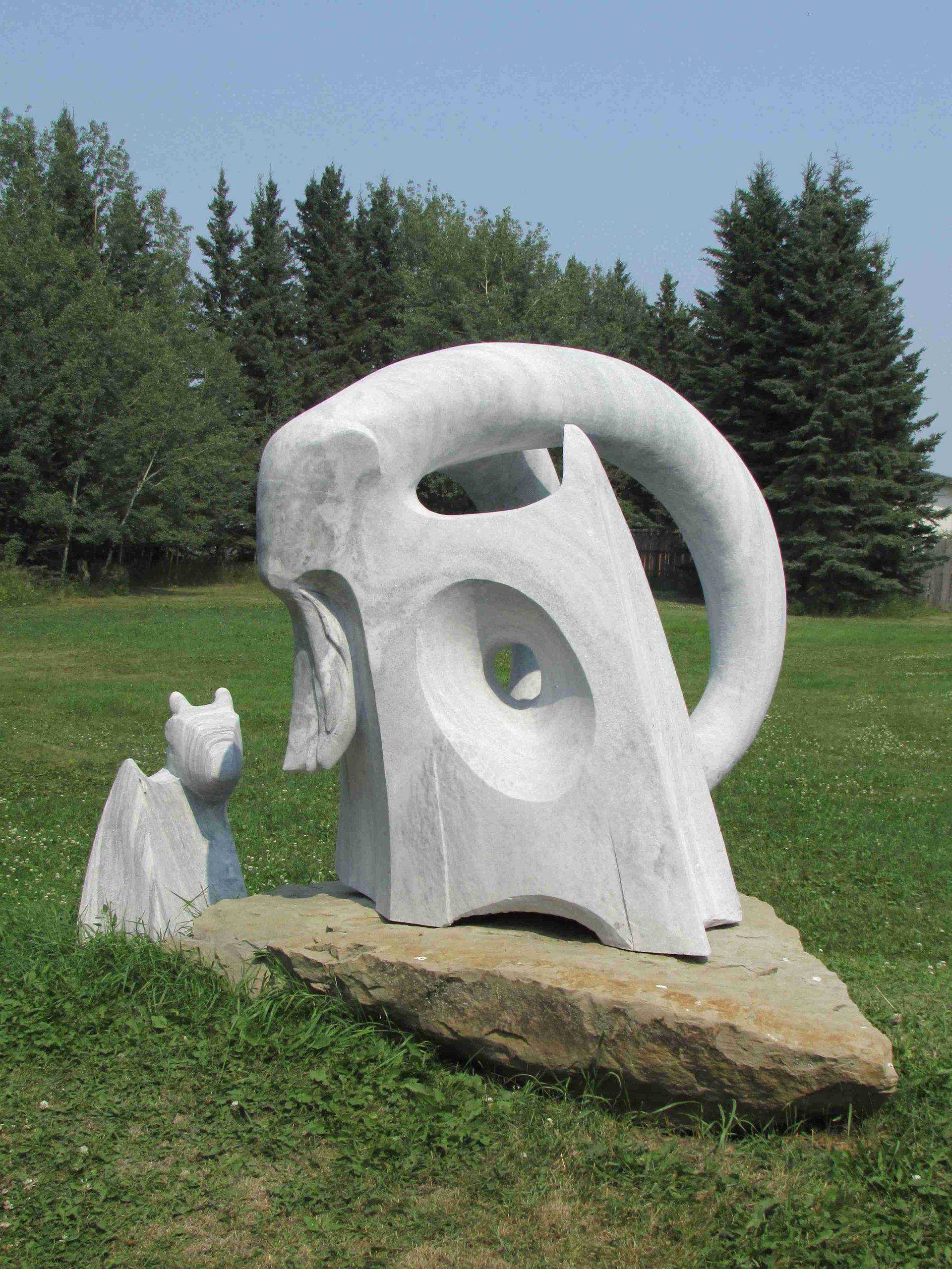 abstract sculpture home decor